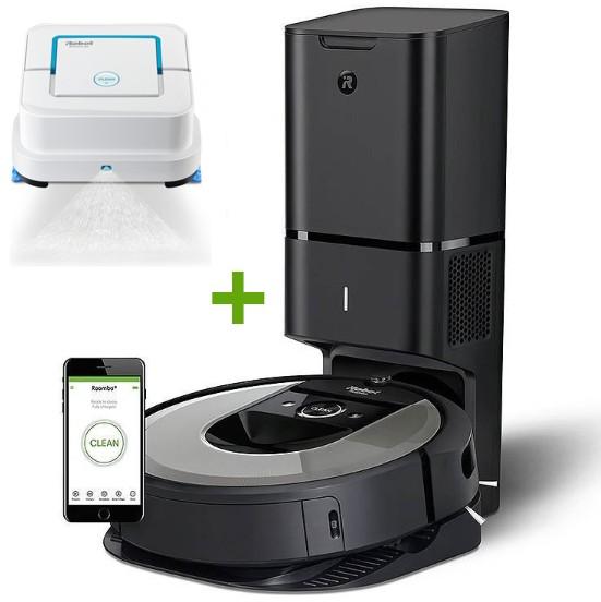 iRobot Roomba i7+ + Braava Jet 250